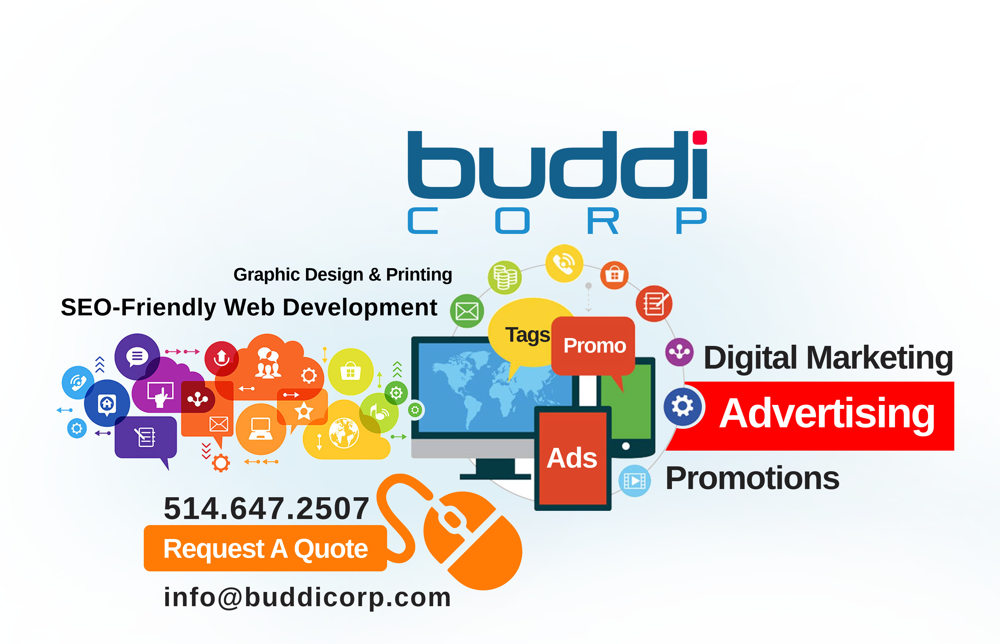 BUDDI CORP Montreal Graphic Design, Development, SEO & Digital Marketing Services